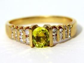NATURAL 1.80CT YELLOW SAPPHIRE DIAMOND LADIES RING VS2