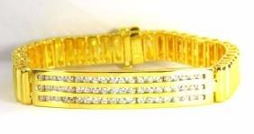 MENS DIAMOND 14KT BRACELET 2.00CT 14KT 50 GRAMS HEAVY