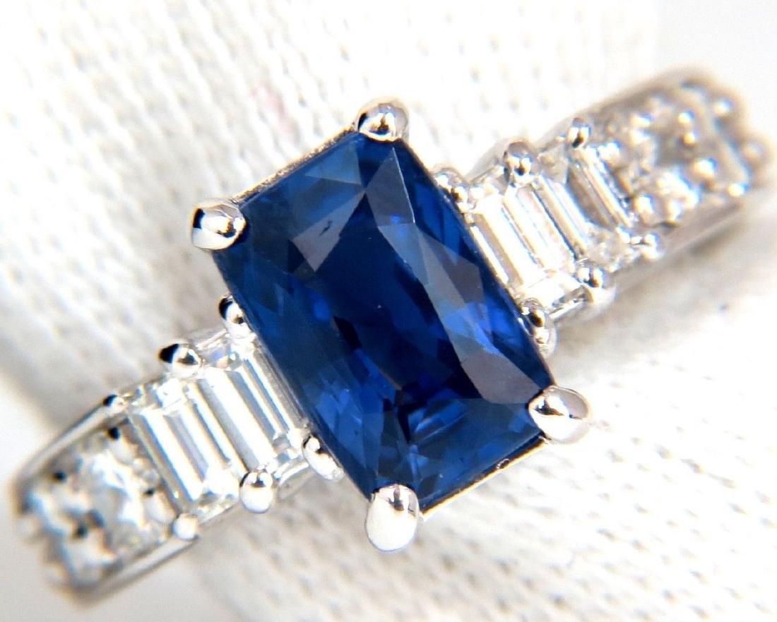 NO HEAT 2.80CT NATURAL BLUE SAPPHIRE DIAMONDS RINGS 18K