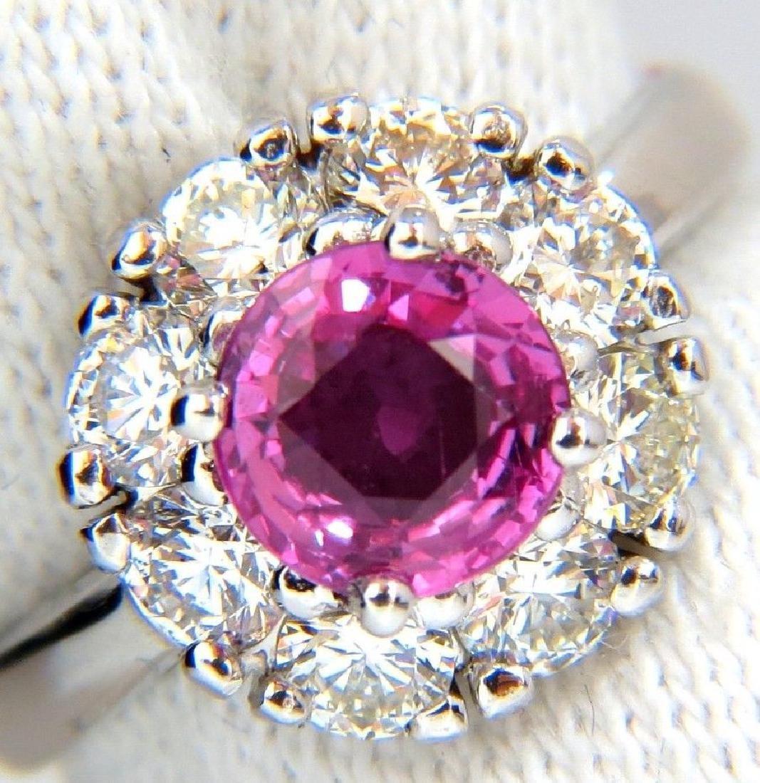 2.00CT NATURAL FANCY INTENSE PINK SAPPHIRE DIAMOND RING