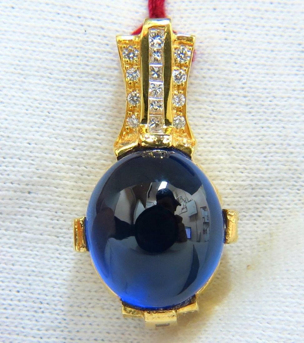 18KT 26.76CT FINE GEM BLUE SAPPHIRE NATURAL DIAMONDS
