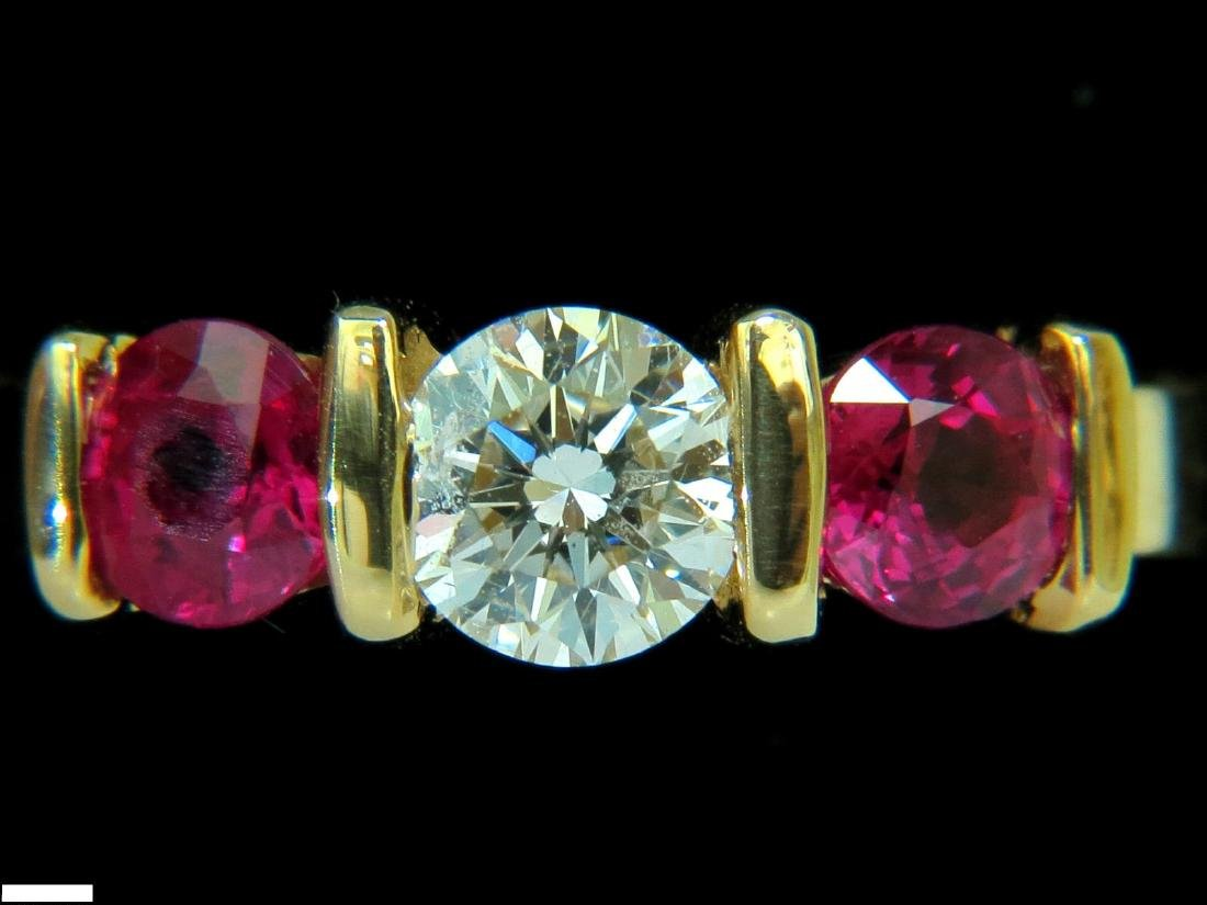 1.82ct NATURAL FINE GEM RUBY DIAMOND RING TRADITIONAL