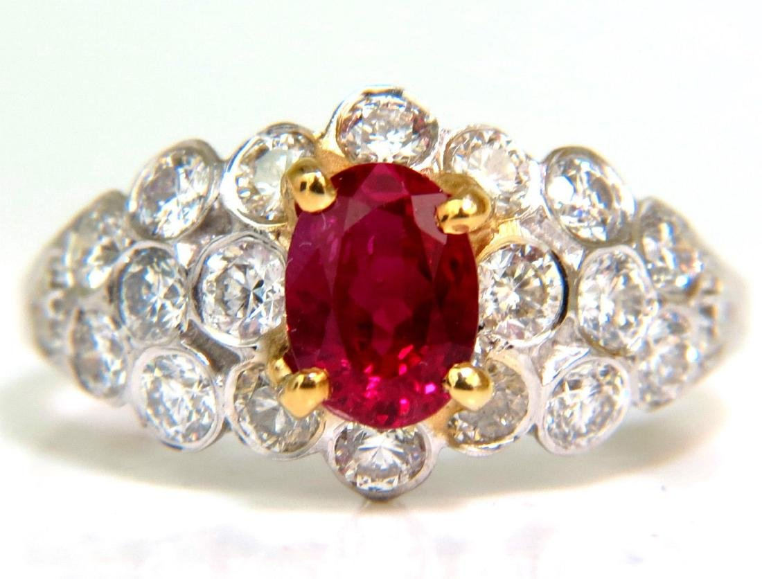 1.96CT VIVID TOP GEM NATURAL BRIGHT RED RUBY DIAMOND