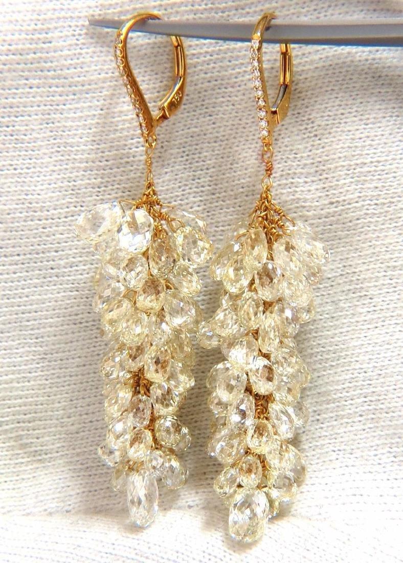 50.15ct Natural Fancy color briolette diamond dangle