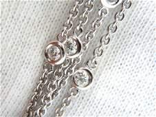 2.00ct round diamond station necklace G/vs 14kt double