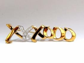 Tiffany & Co. Authentic Paloma Picasso Xo 18kt Brooch