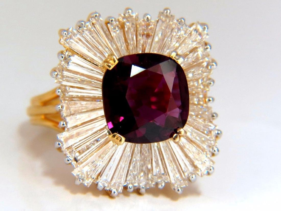 GIA Certified 5.08ct. Natural Ruby Diamonds ring 18kt