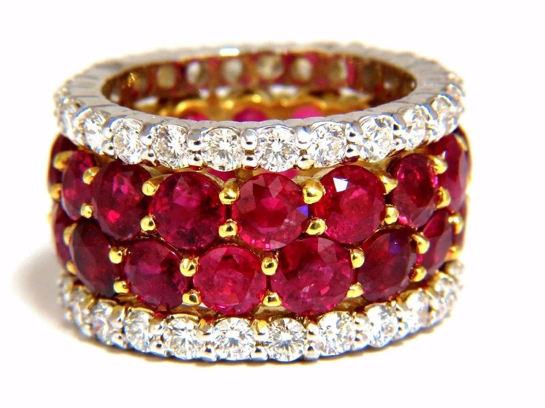 20.40ct Natural Ruby Diamonds eternity Ring 18kt Natura