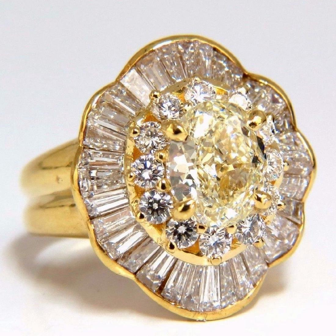 GIA Certified 4.51ct Natural Yellow Diamond Ring 18Kt