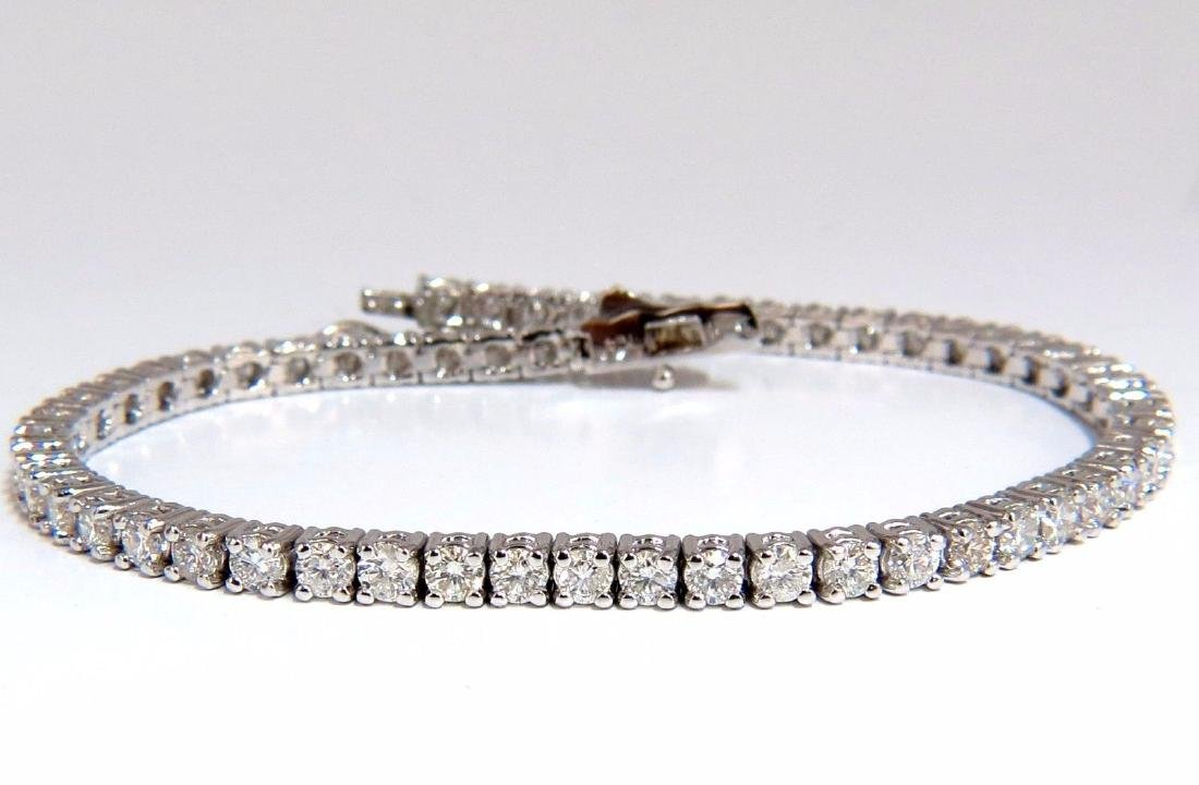 Natural Diamond Tennis Bracelet 4.50ct. G/Vs 14kt 7inch