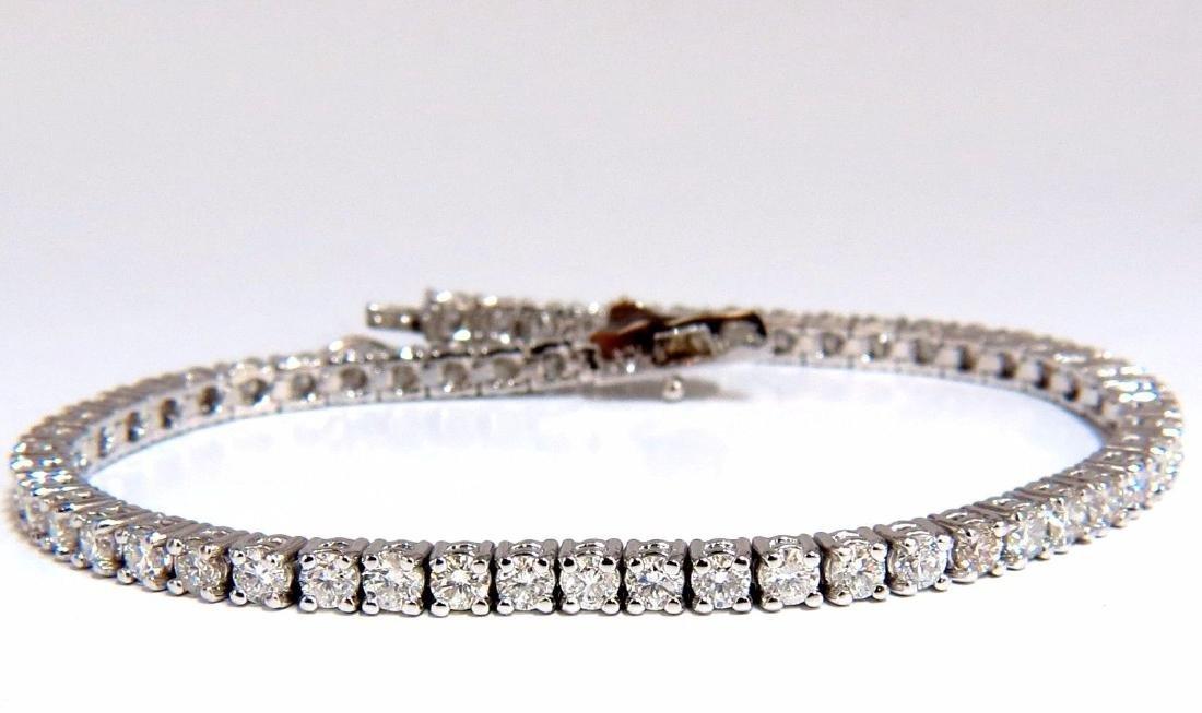 Natural Diamond Tennis Bracelet 4.50ct. G/Vs 14kt 7inch - 2