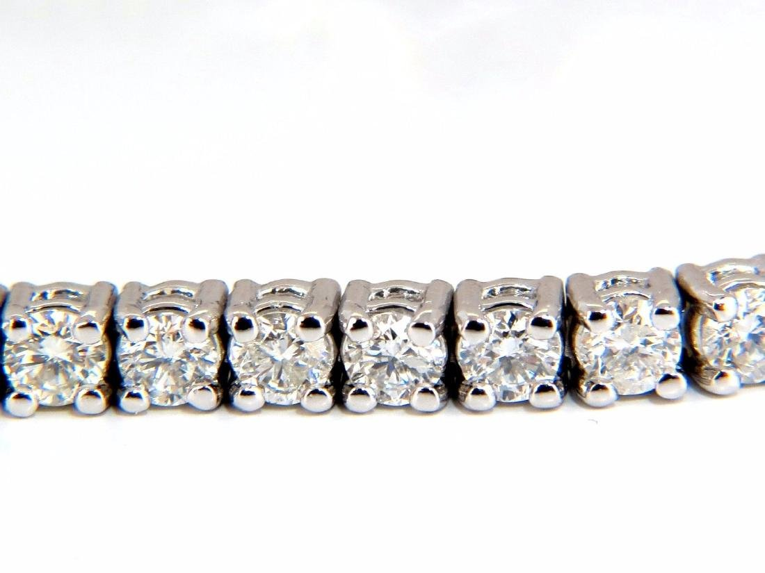 Natural Diamond Tennis Bracelet 4.50ct. G/Vs 14kt 7inch - 3