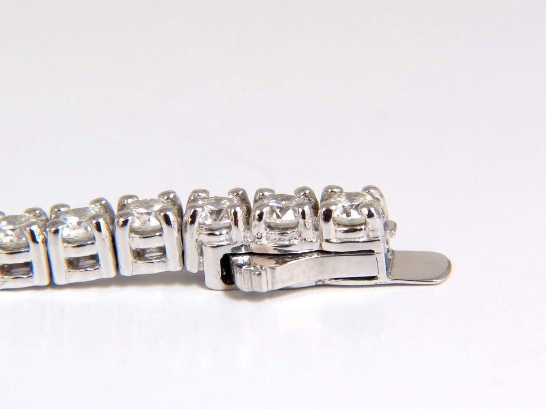 Natural Diamond Tennis Bracelet 4.50ct. G/Vs 14kt 7inch - 4
