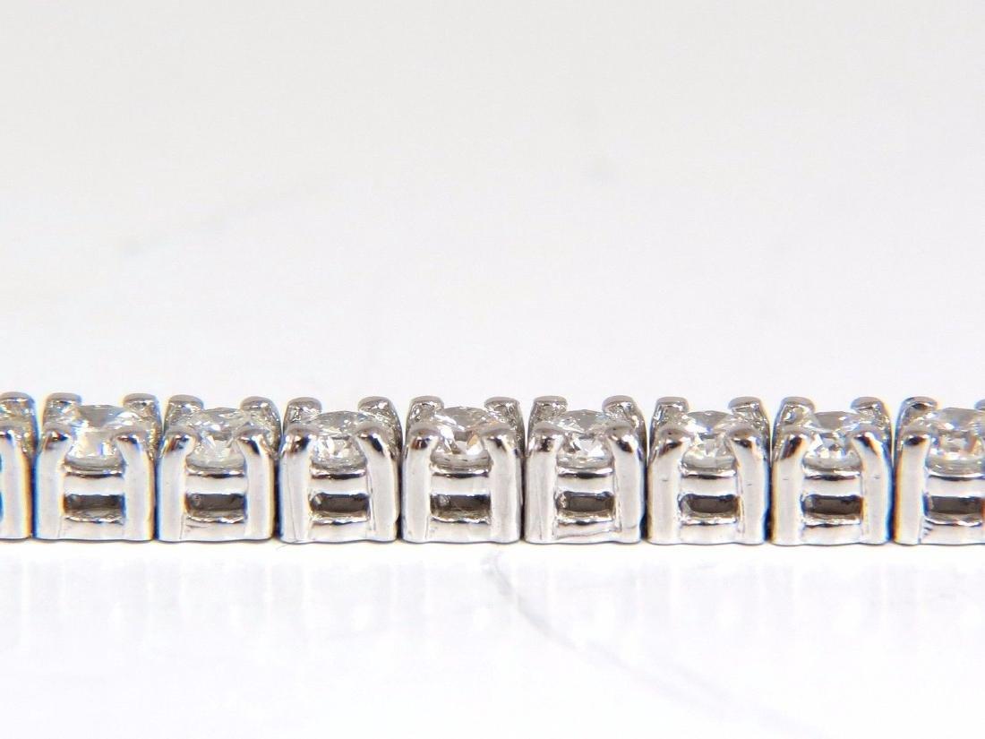 Natural Diamond Tennis Bracelet 4.50ct. G/Vs 14kt 7inch - 5