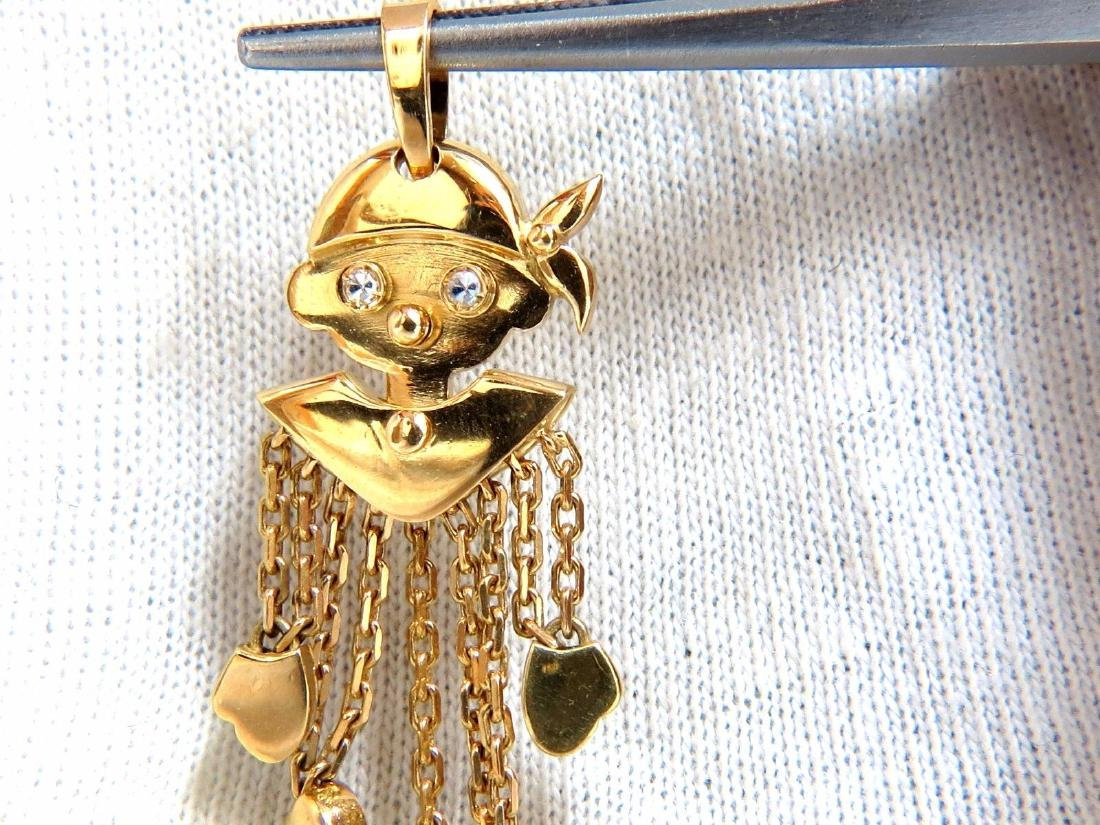 18kt Pirate Marionette Charm Pendant Dangling Whimsical - 2