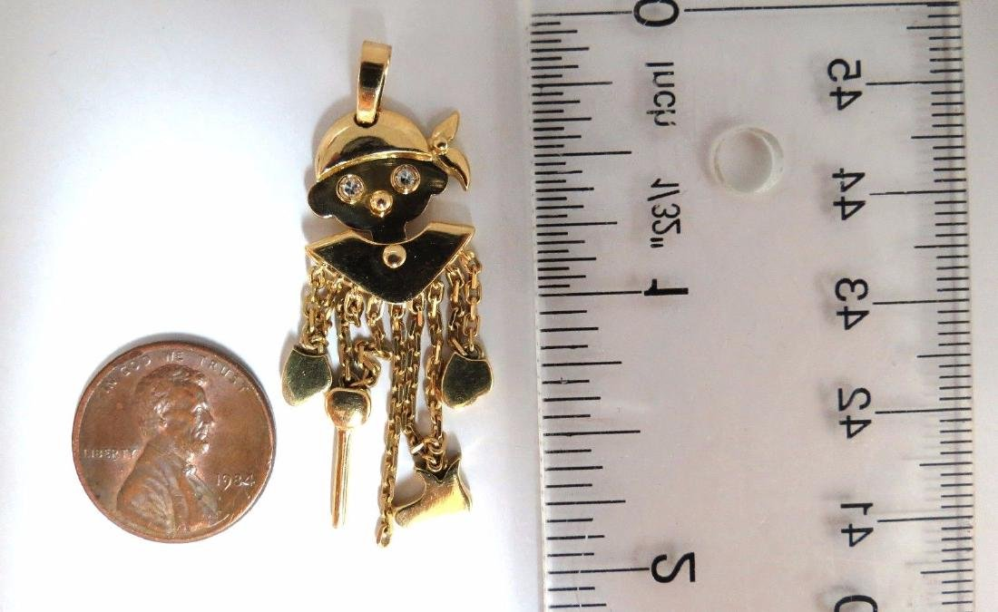 18kt Pirate Marionette Charm Pendant Dangling Whimsical - 3
