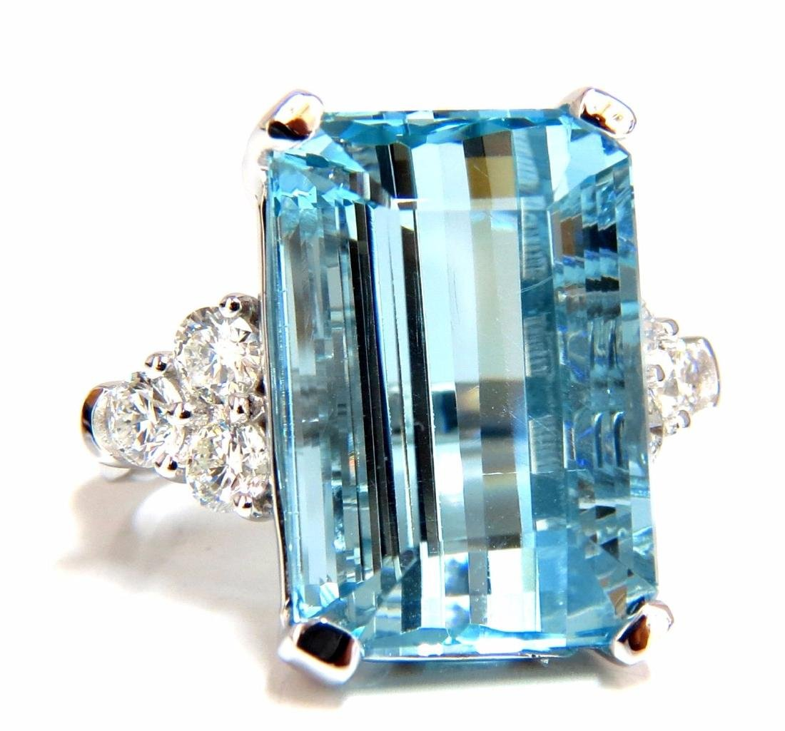 GIA Certified 19.99ct Natural Aquamarine diamonds ring
