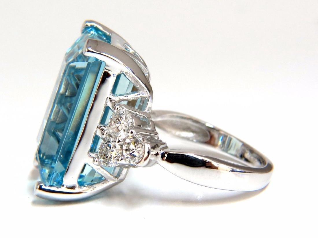 GIA Certified 19.99ct Natural Aquamarine diamonds ring - 3