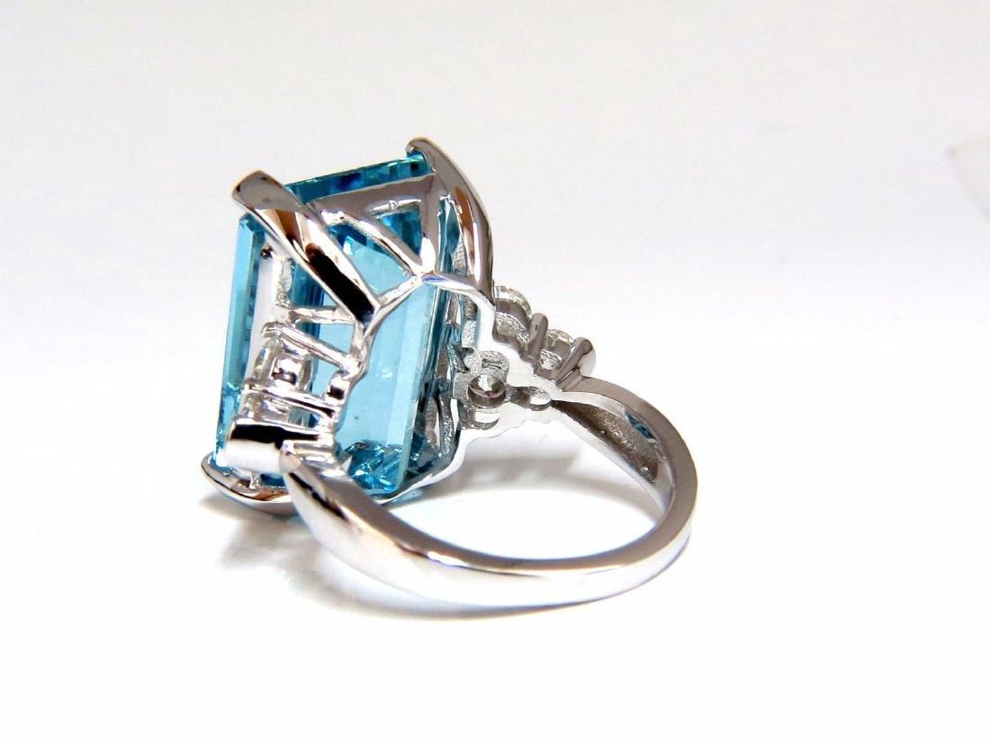 GIA Certified 19.99ct Natural Aquamarine diamonds ring - 4