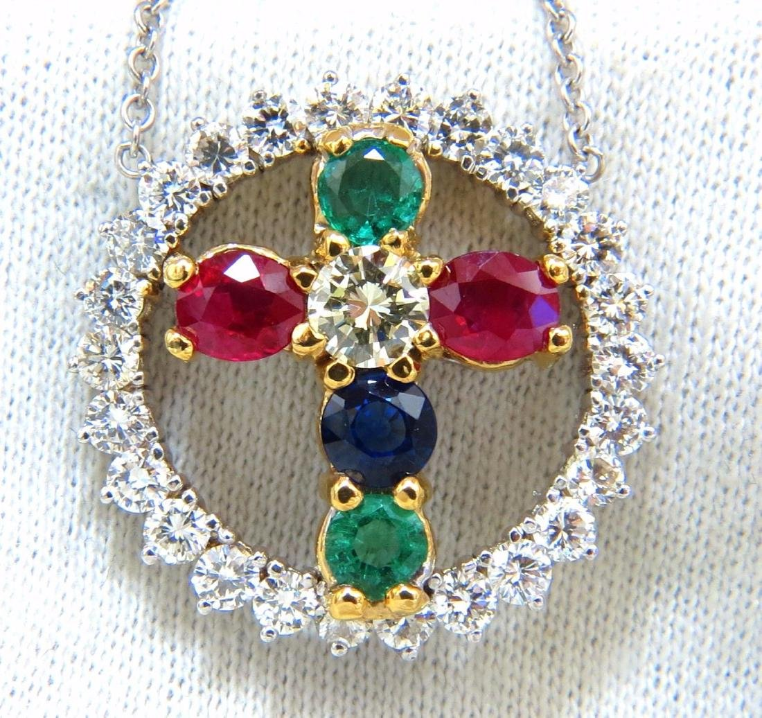 weddbook emerald diamond floral sapphire media ruby necklace