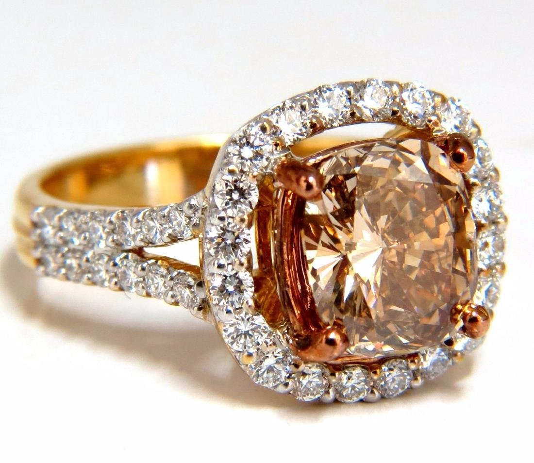GIA certified 2.99ct Fancy Brown Yellow Diamond ring