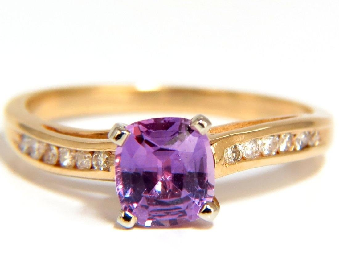 GIA 1.33ct NATURAL NO HEAT PINK SAPPHIRE DIAMONDS RING