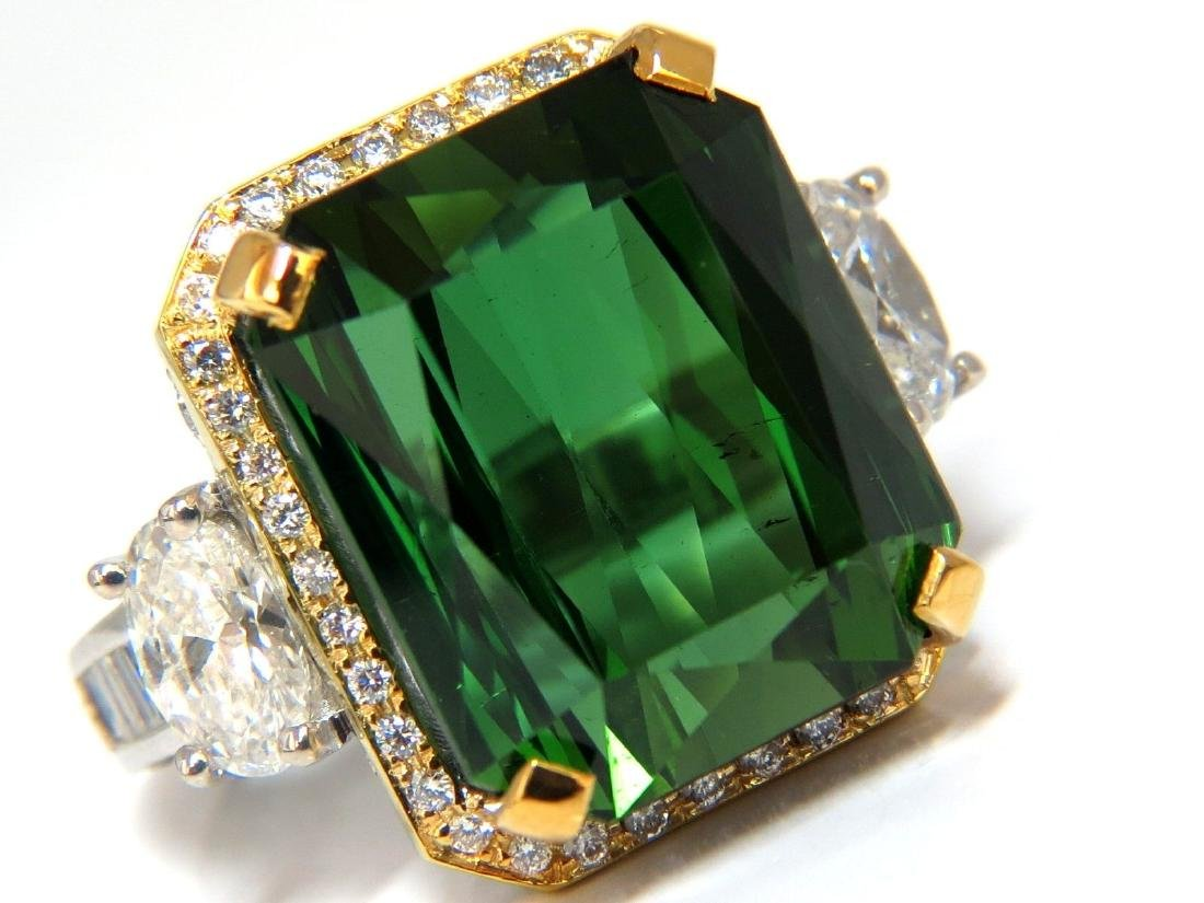 GIA 38.17ct NATURAL VIVID GREEN OCTAGONAL CUT