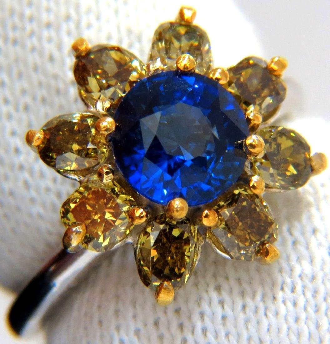 3.16CT NATURAL ROYAL BLUE ROUND SAPPHIRE FANCY COLOR