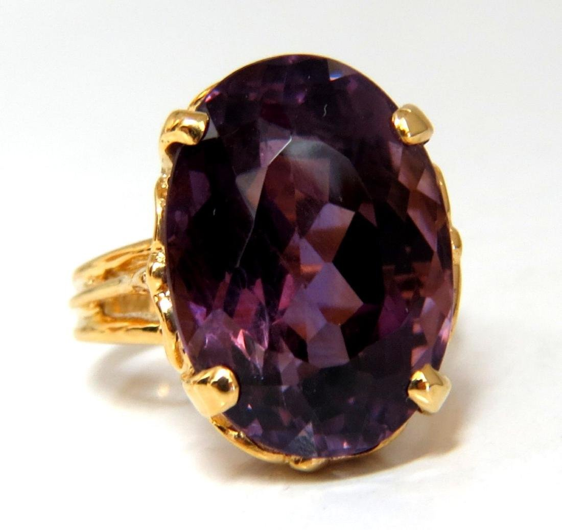 14ct natural purple amethyst ring 14kt