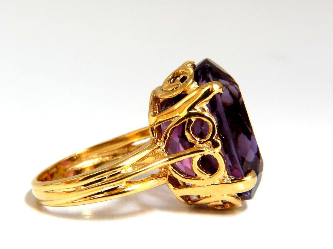 14ct natural purple amethyst ring 14kt - 2