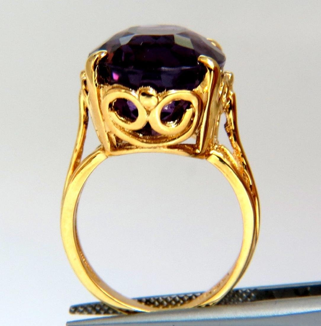 14ct natural purple amethyst ring 14kt - 3