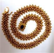 Antique 20kt Victorian Prime Hand Made Garnet Necklace