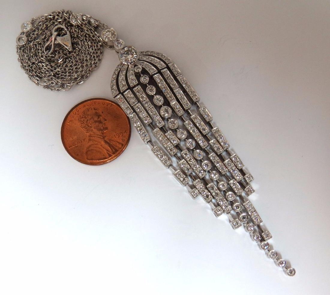 3.50CT DIAMONDS DANGLING CHANDELIER PENDANT STATION - 5