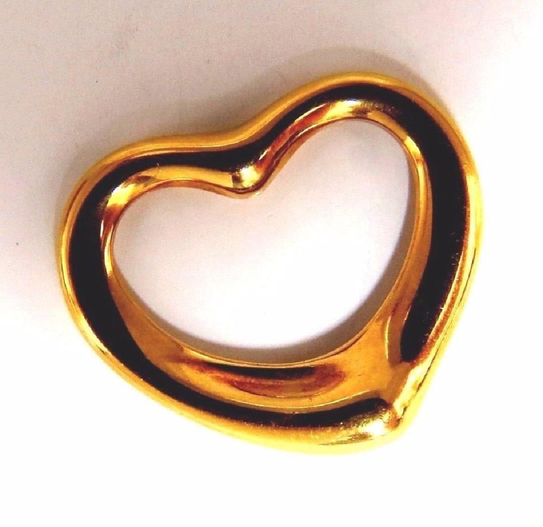 Authentic Tiffany Elsa Peretti Heart Pendant 18kt