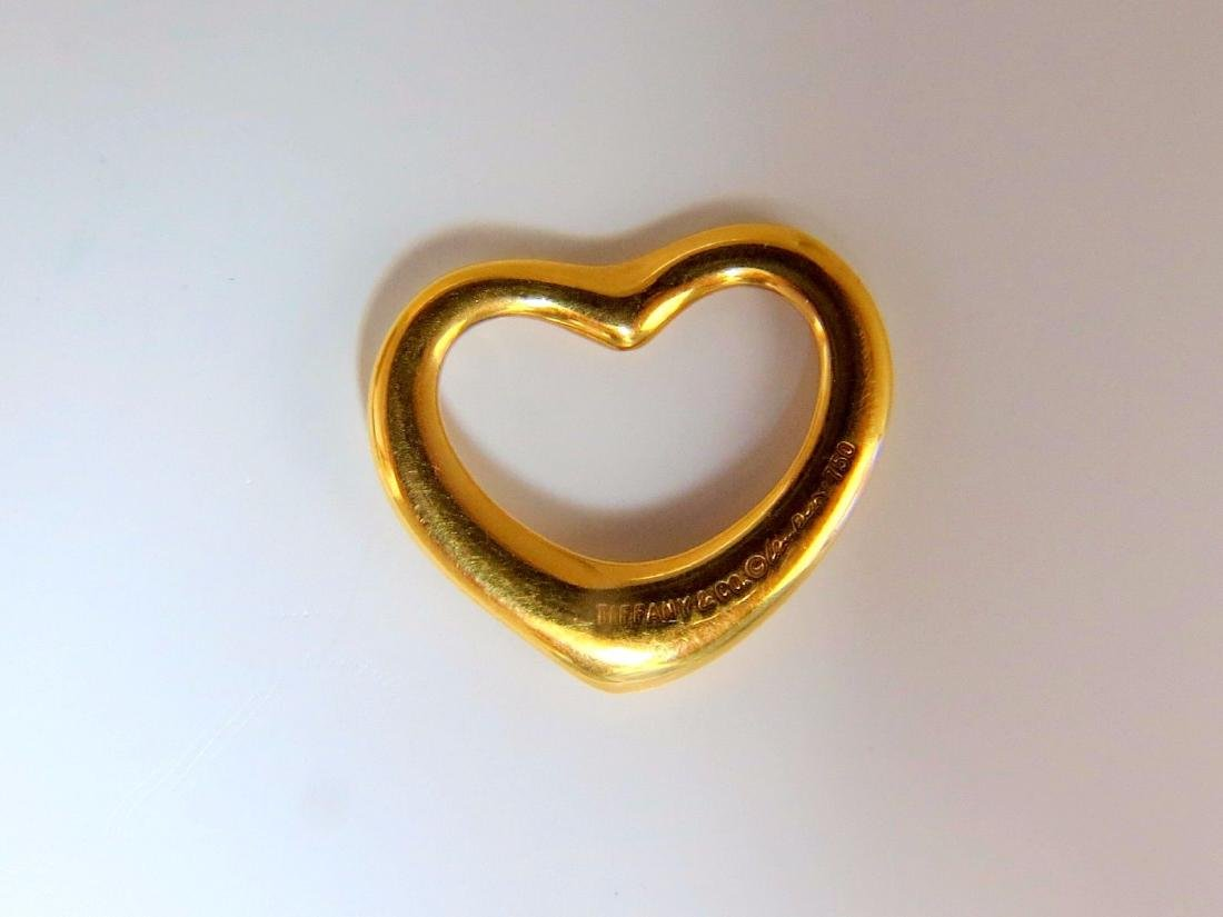 Authentic Tiffany Elsa Peretti Heart Pendant 18kt - 2