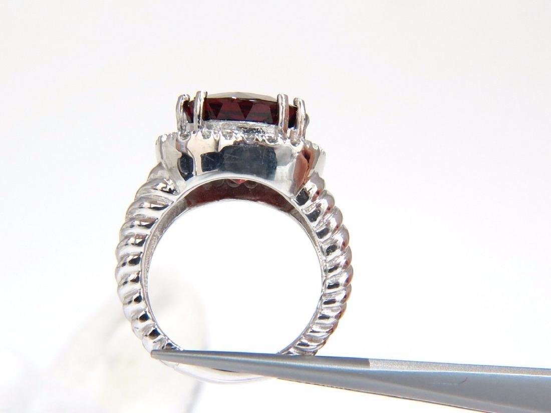 13.12CT NATURAL SPESSARTITE GARNET DIAMONDS RING VIVID - 4