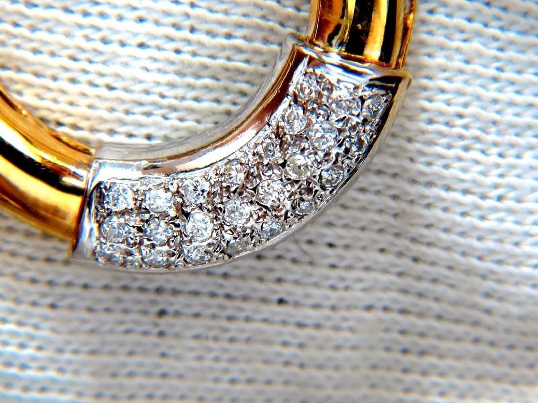 .80ct natural diamonds circular knocker deco earrings - 2