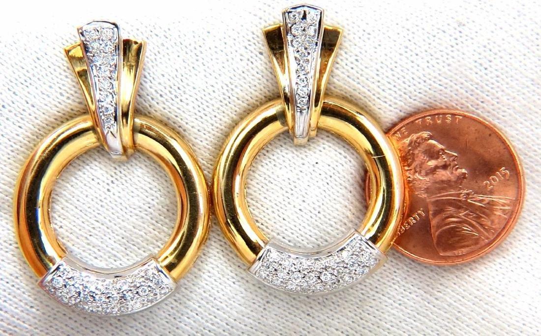 .80ct natural diamonds circular knocker deco earrings - 4