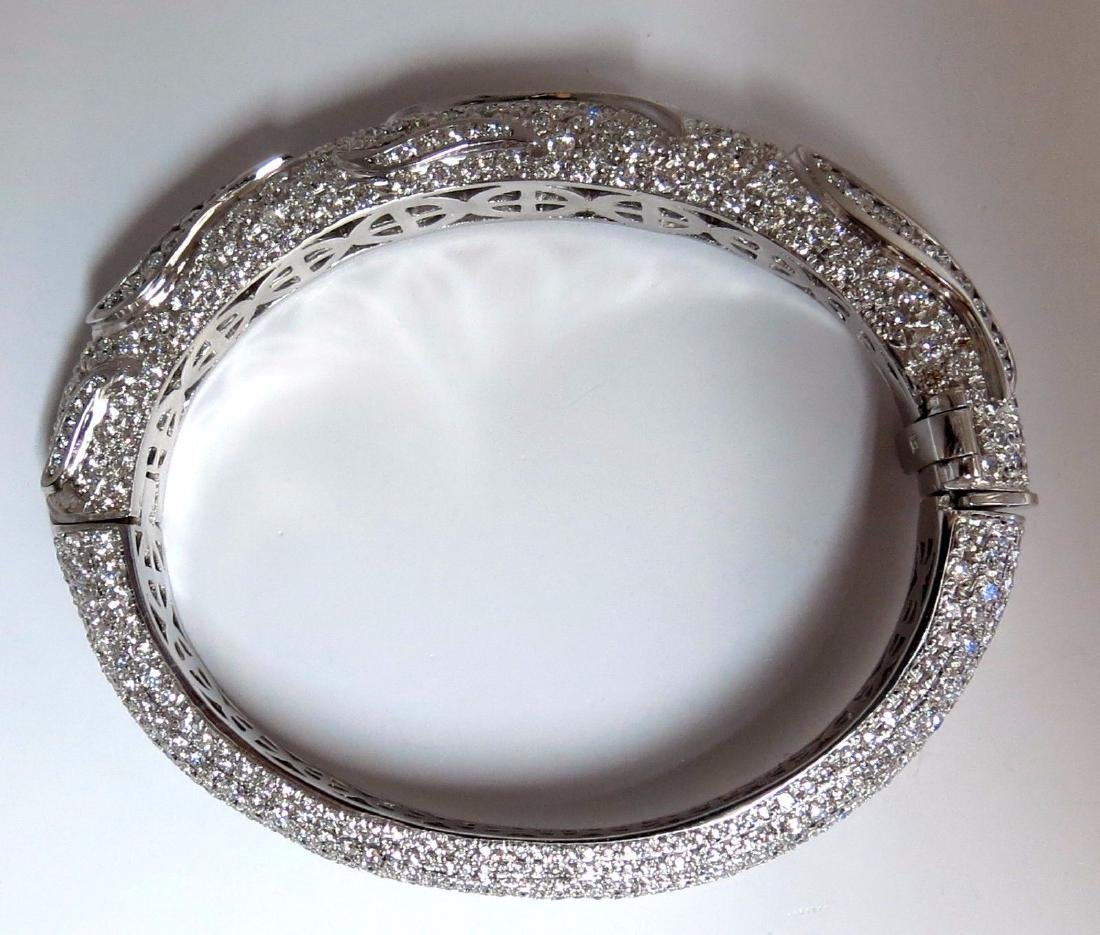 14.02ct natural daimonds eternity encrusted bangle - 10