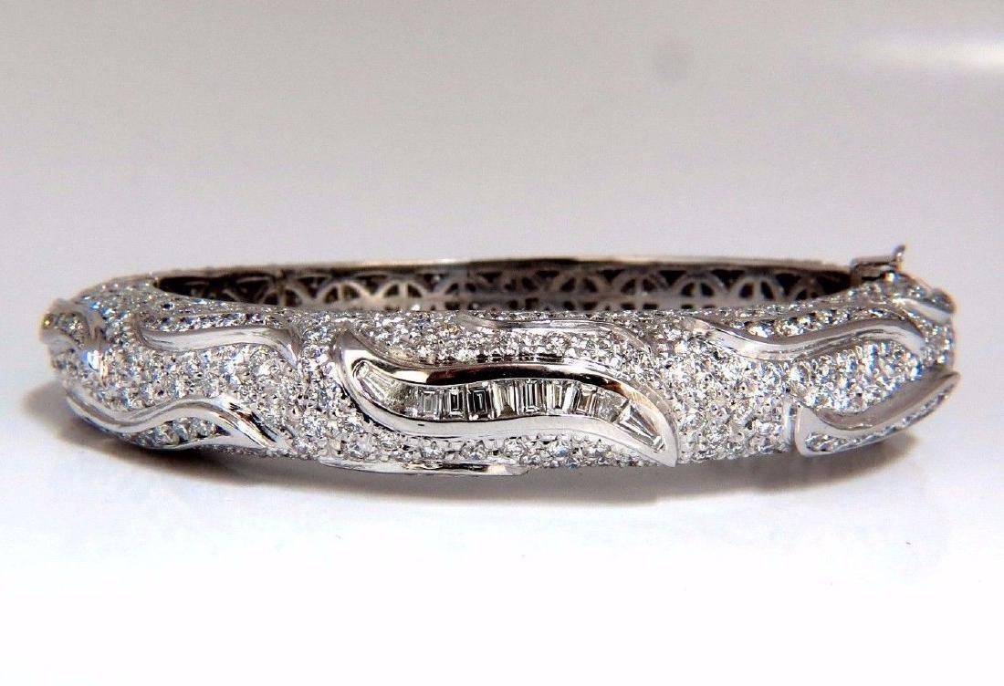 14.02ct natural daimonds eternity encrusted bangle