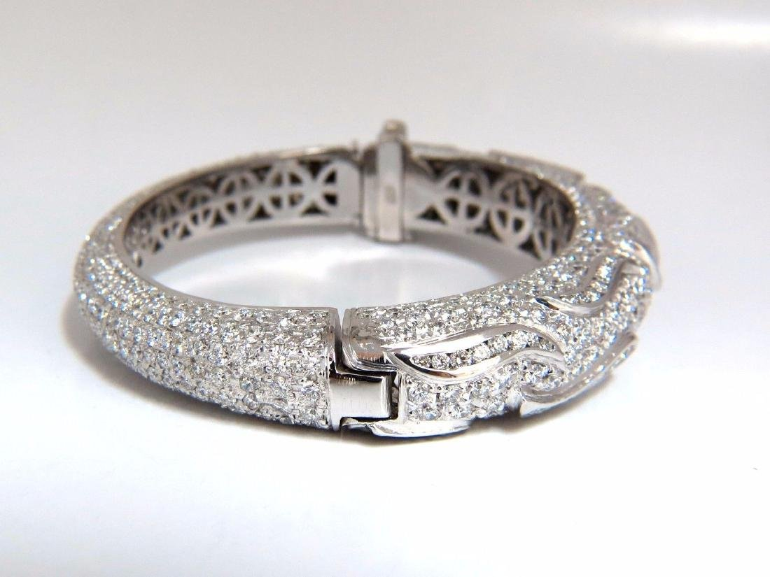 14.02ct natural daimonds eternity encrusted bangle - 2