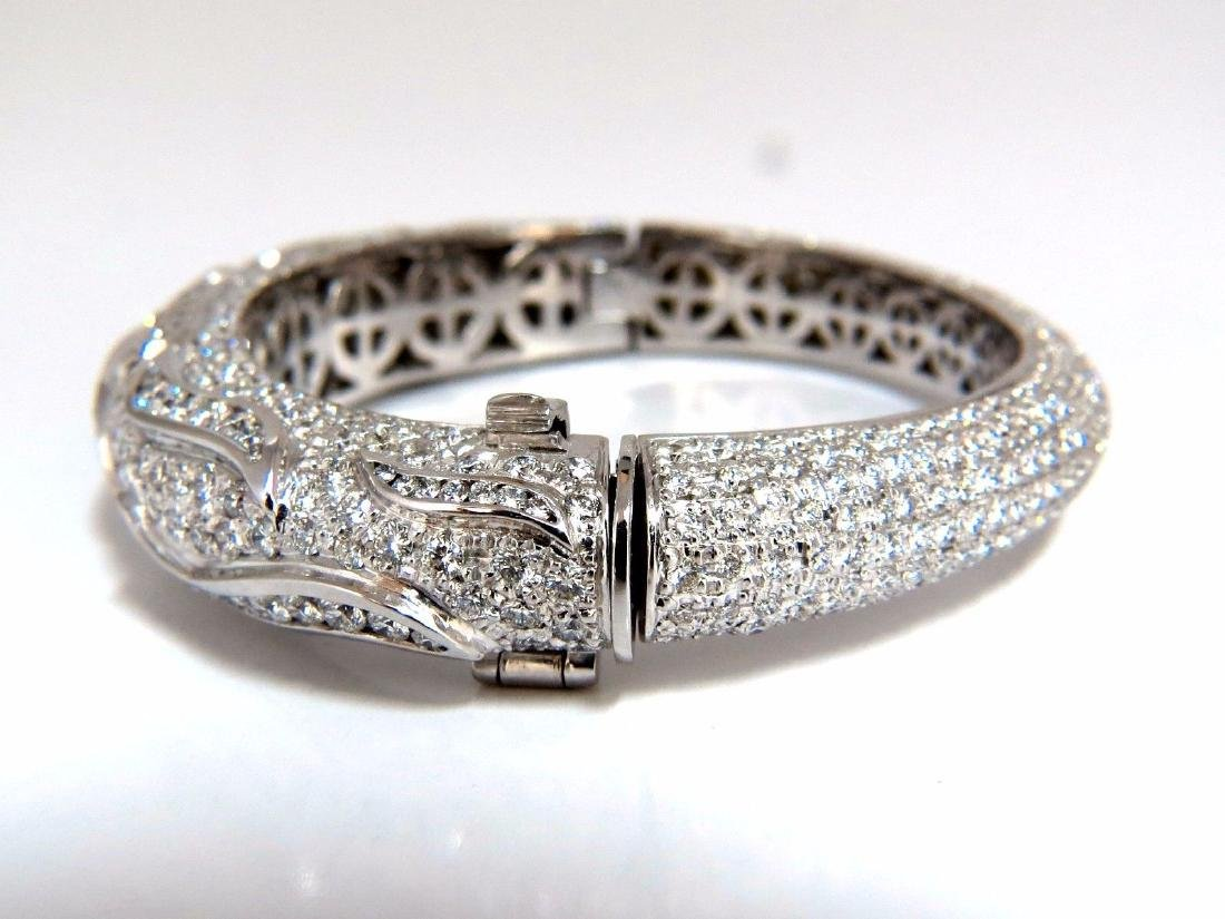 14.02ct natural daimonds eternity encrusted bangle - 3