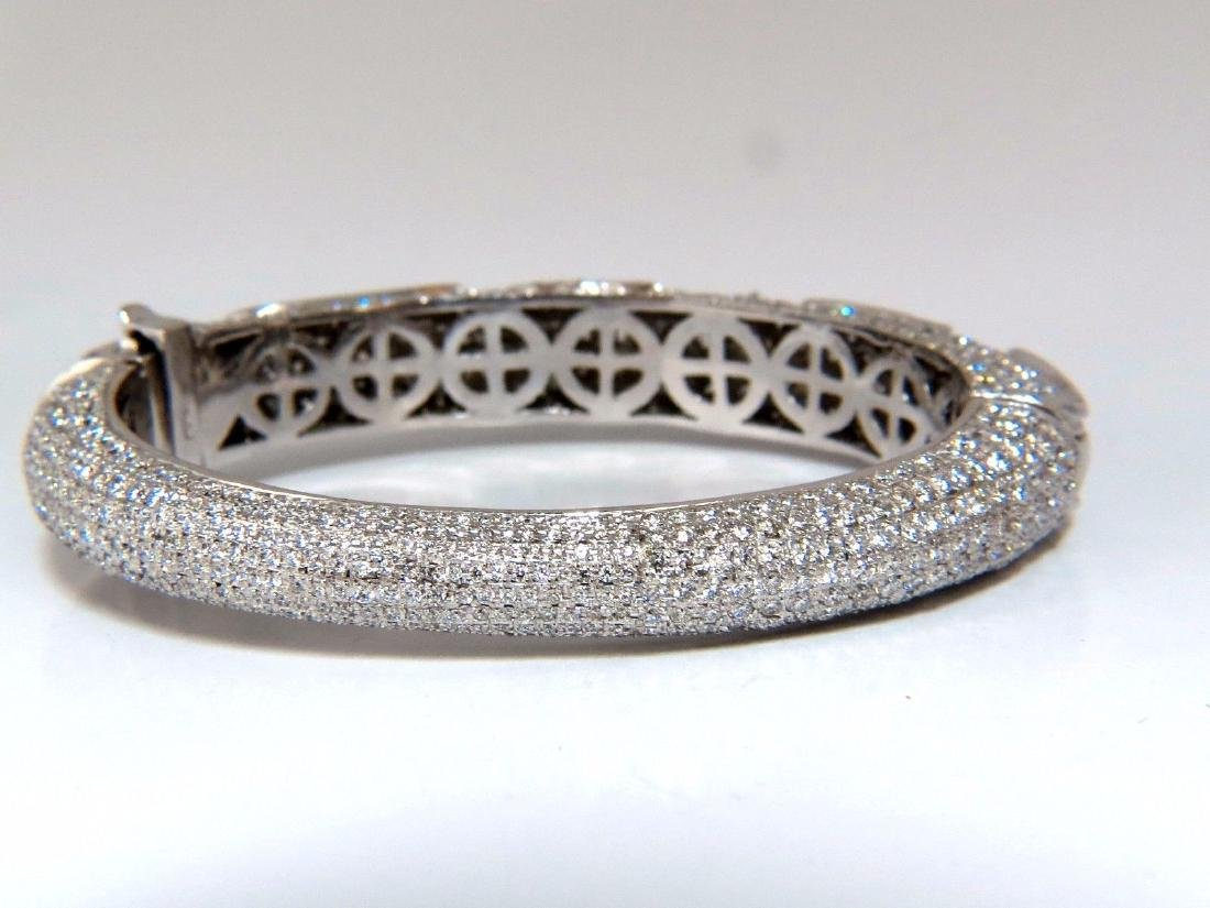 14.02ct natural daimonds eternity encrusted bangle - 4