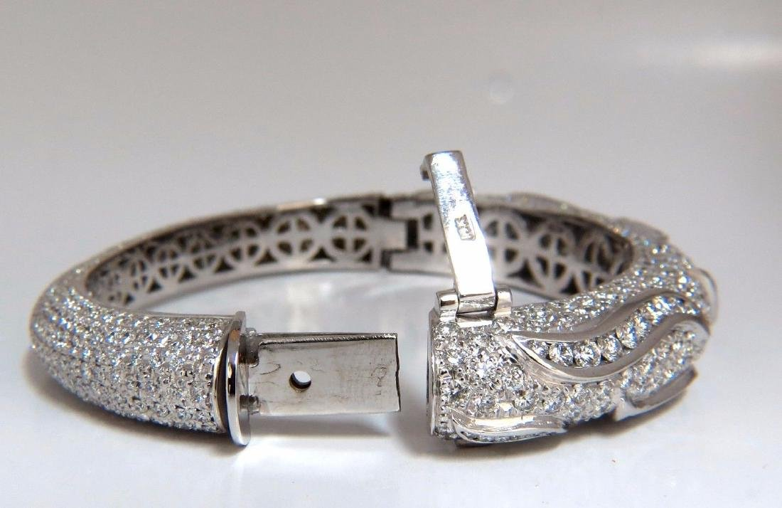 14.02ct natural daimonds eternity encrusted bangle - 5