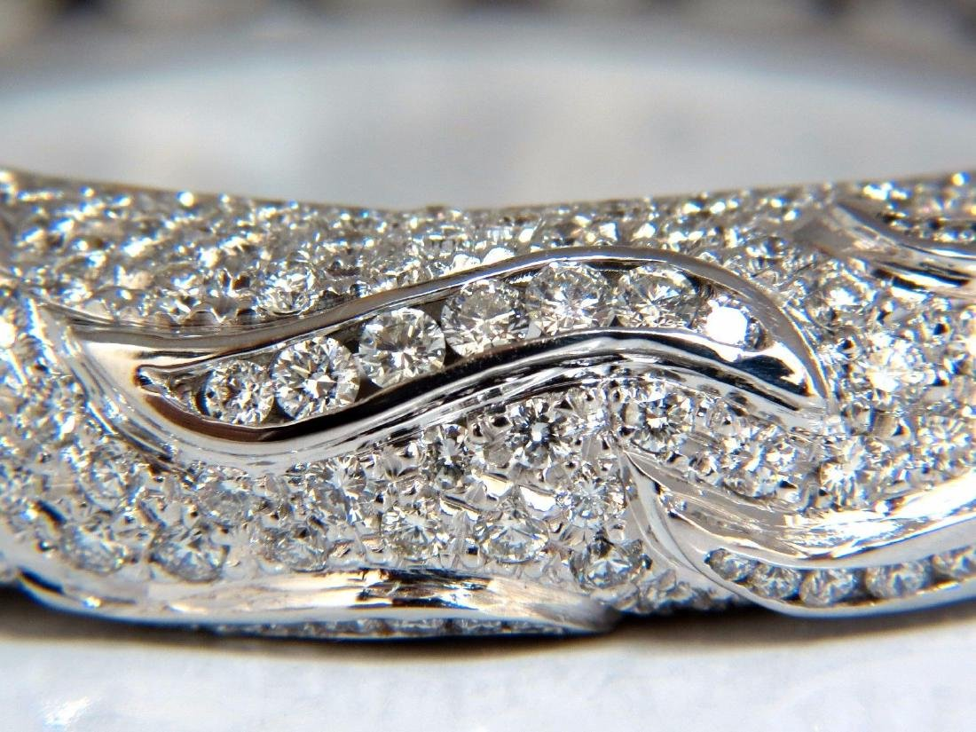 14.02ct natural daimonds eternity encrusted bangle - 7