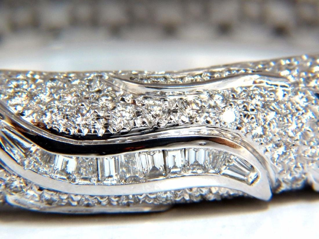 14.02ct natural daimonds eternity encrusted bangle - 8