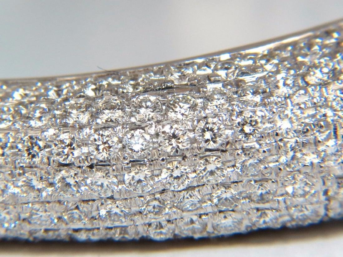 14.02ct natural daimonds eternity encrusted bangle - 9