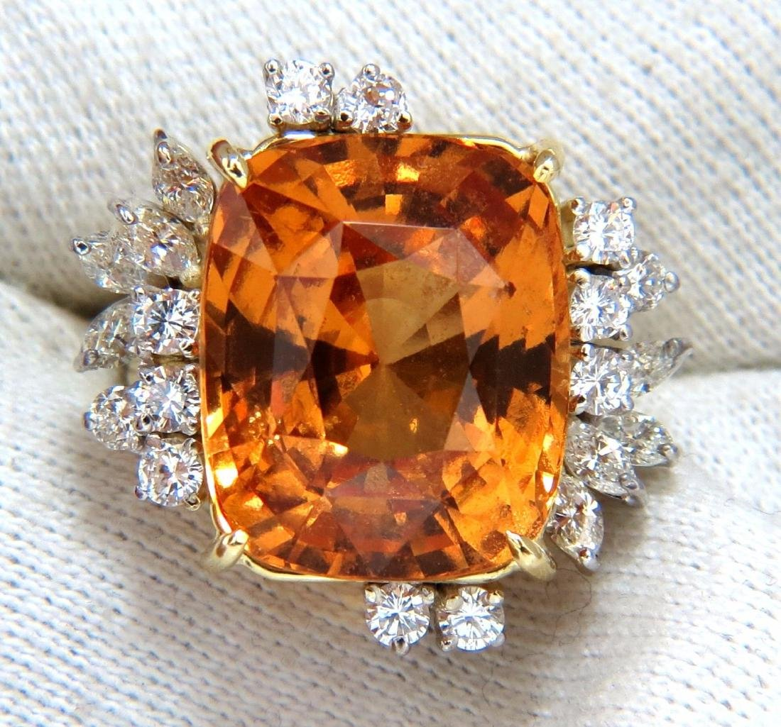GIA Certified 25.66ct Natural Orange Hessonite Garnet