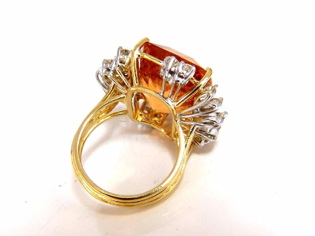 GIA Certified 25.66ct Natural Orange Hessonite Garnet - 2