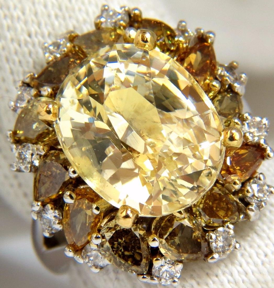 GIA 12.68CT NATURAL NO HEAT YELLOW FANCY COLOR DIAMONDS